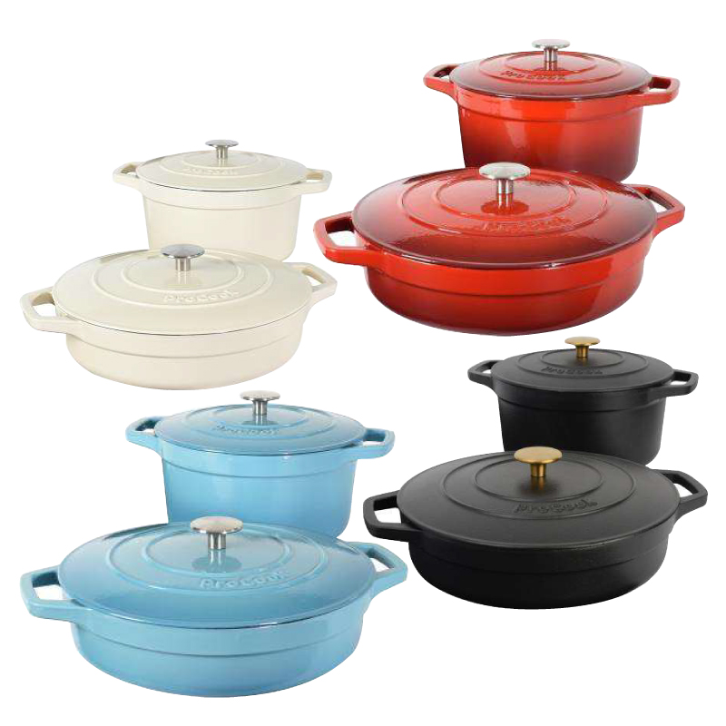 Buy ProCook 24cm Round Casserole and 28cm Shallow Casserole for RM999