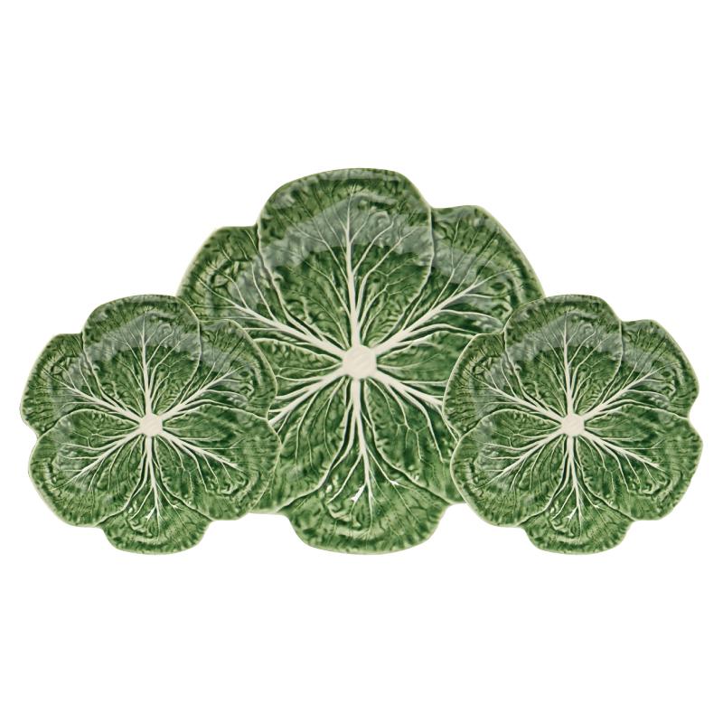 Buy 4 or 6 Pieces Bordallo Pinheiro Cabbage Dinner Plate- 26.7cm Save More