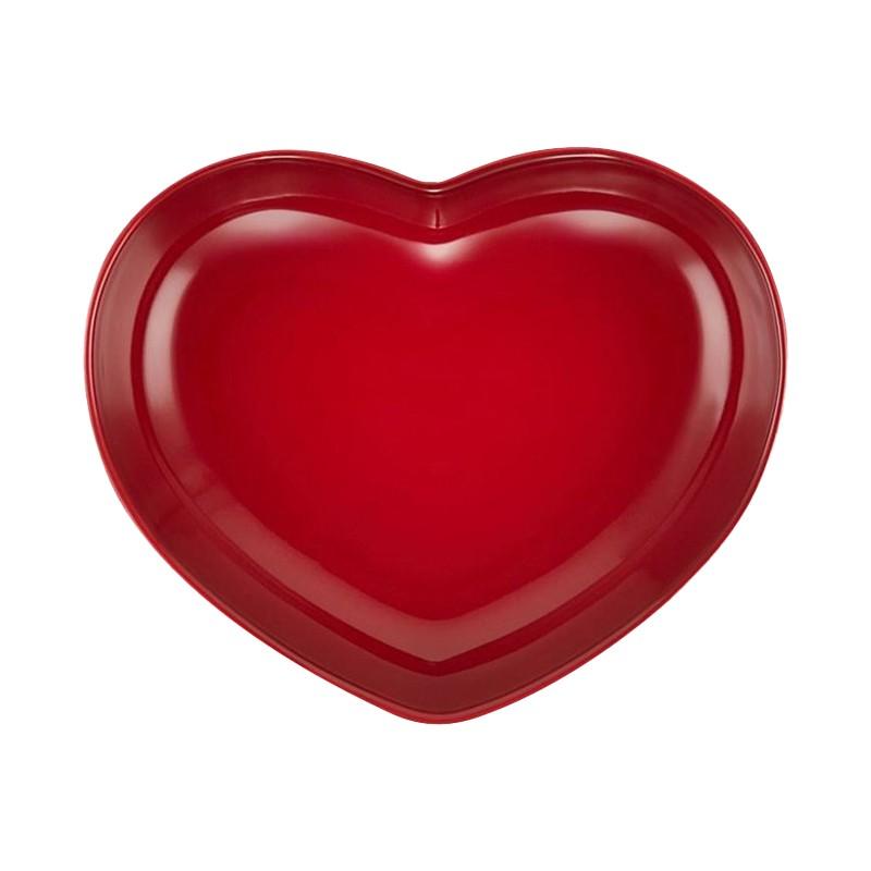 LE CREUSET HEART DISH 21CM - CERISE - MEDIUM